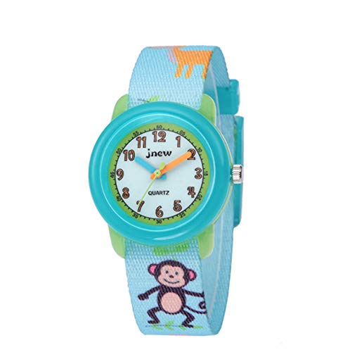 Kleinkind Mädchen Jungen Uhr, Stoff Waschbare Armband Armbanduhr Geschenke für 3-10 Jahre kleine Kinder