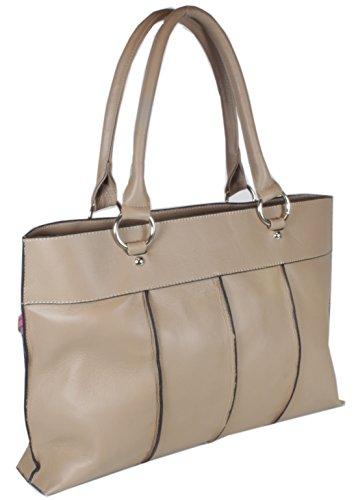 Taschentrend - Edenderry zeitloser Shopper Ledershopper butterweiches Leder Handtaschen Damen Business Henkeltaschen XXL Tasche 28x44x12 cm (B x H x T)