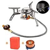 Queta Camping Stove with Piezo Ignition Portable Camping Gas stove Gas Cooking Burner with Carrying...
