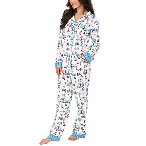 Munki Munki Pajamas for Women Classic Flannel PJ Set Long Sleeve (Costco 2019, X-Large)