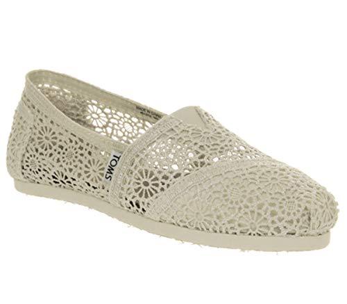 TOMS , Damen Ballerinas, Weiß - Natural Crochet - Größe: 35