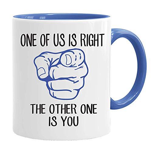 One of us is Right, The Other one is You! - Leuke nieuwigheid thee koffie drinken mok cup