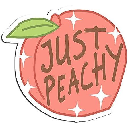 Amazon Com Just Peachy Peach Sticker Happy Stickers Waterbottle Sticker Tumblr Stickers Laptop Stickers Vinyl Stickers Electronics