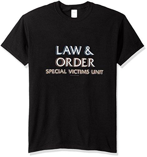 Trevco Men's Law & Order: SVU Short Sleeve T-Shirt, Logo Black, Small