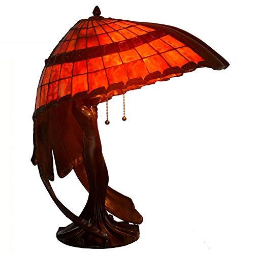 Lámpara de mesa de 20 pulgadas, estilo Tiffany, lámpara de escritorio, boutique, lámpara de mesa, salón, dormitorio, lámpara de noche