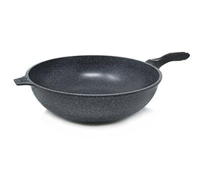 Alpha Nonstick Marble Stone Coating Wok Pan