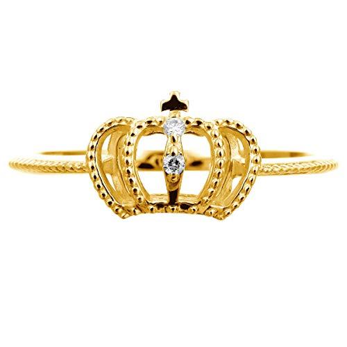 [ココカル]cococaru ダイヤ リング ダイヤモンド リング 指輪 レディース 10金 10k k10 ゴールド イエローゴールド ピンクゴールド ホワイトゴールド ギフト 贈り物 記念日 プレゼント 日本製(イエローゴールド 8)