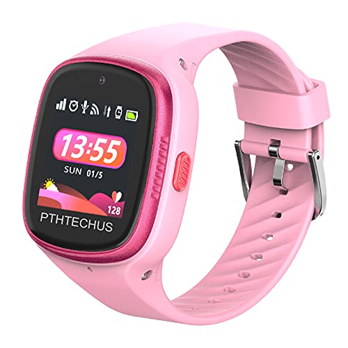 PTHTECHUS 4G Watch Phone for Children - Kids Smart Watch with WiFi, Dail, Voice Messages & Video Calls, GPS Location,...