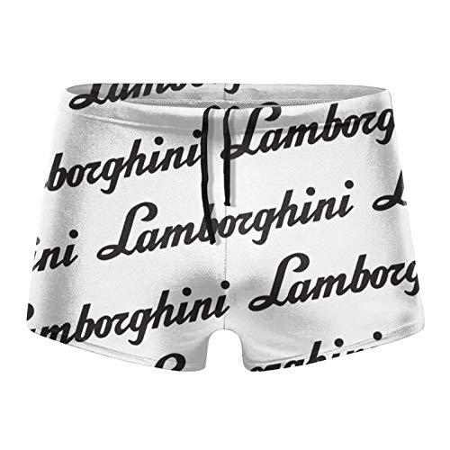 Aiier La-Mborghi-NI Text Logo Herren Badeanzug Shorts Trunks Badebekleidung Boxershorts