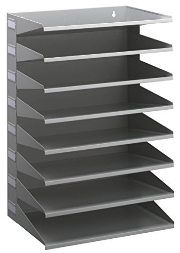 Durable 336110 Sortierreck (mit 8 Ablagefächern, für Tisch oder Wand) grau