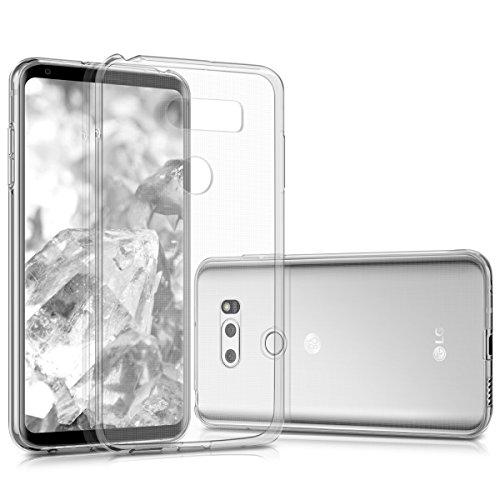 kwmobile Funda Compatible con LG V30 / V30S / V30+ / V30S+ - Carcasa de TPU para móvil - Cover Trasero en Transparente