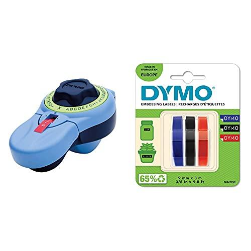 Dymo Junior Estampadora para Uso doméstico (Versión Española) + 3D Label Tapes Cintas para Impresoras de Etiquetas (Bélgica, 40 (TBC), Ampolla)