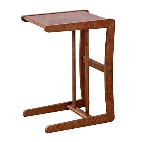 Axdwfd Tafels Solid Wood Side Table, Koffietafel, Nachtkastje, Laptop Tafel, Afneembaar, 40cm * 30cm * 55cm
