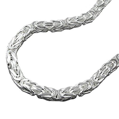 ASS 925 Silber Königskette Halskette Collier 3,5*3,5 mm,60 cm