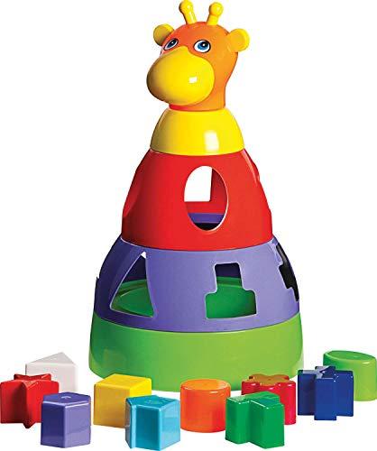 Brinquedo Educativo Girafa Didática com Blocos Merco Toys