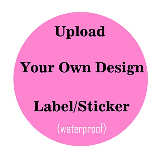 Amerixun 115 pcs Custom Sticker Labels,Personalized Business Text,Logo,Image Tag Sticker, Any Shape ,Design. Waterproof (2 inch Round)