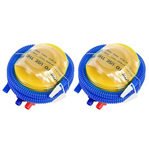 BESPORTBLE 2 stks Plastic Voet Bellow Mini Luchtpomp Opblaasbare Ballon Pomp Hand Pomp Luchtpomp Flesbel Kussen Opblaasbare