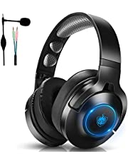 Wired Gaming Headset for PS4 PS5 PC Xbox One, Gaming Headset with 7.1 Stereo Sound, Over-Ear Headphones with Noise-Canceling Mic, Wireless Headphones only for Music/Movie/Travel/Work