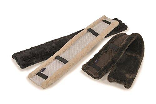 Shires Rendimiento supafleece GP cincha Protectora Negro/Marrón o Natural 24'O 38, marrón
