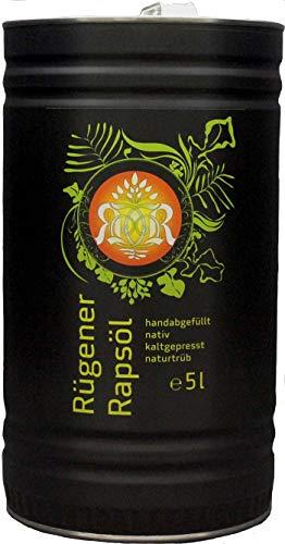 Rügener Rapsöl, nativ, kaltgepresst, naturtrüb, 5 Liter, kostenfreie Lieferung