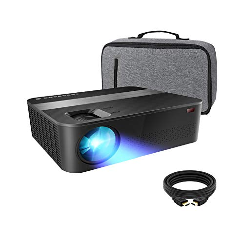 "1080P Projector, 7000Lux Outdoor Projector with 400""Display,Support 4K Dolby and Zoom,100000h lamp,Official Business & Home & Outdoor Projector Compatible with TV Stick,HDMI,VGA,USB,Smartphone,PC,Xbox"
