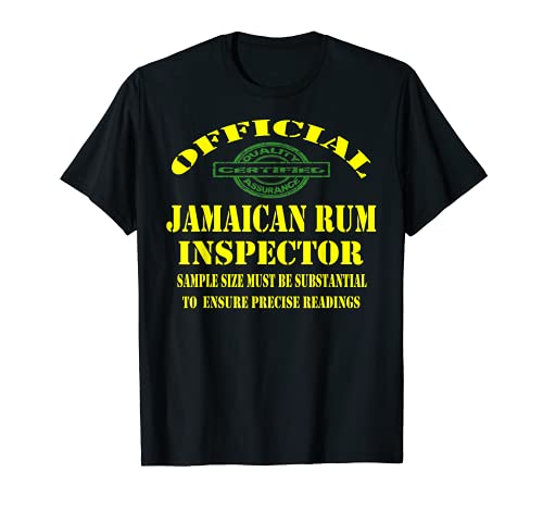 Jamaicano Amber Ron Jamaicano Plato Amante de Alimentos Camiseta
