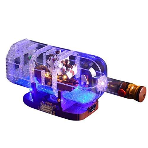 Kit De IluminacióN Led Para Barco En Botella, Compatible Con El Modelo De Bloques De ConstruccióN Lego 21313(No Incluido En El Modelo)