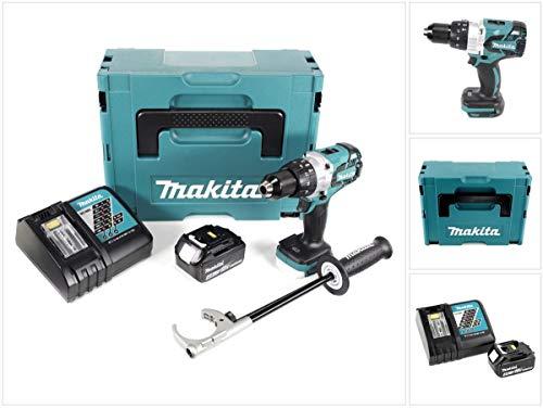 Makita DHP 481 RM1J 18V Akku Schlagbohrschrauber Brushless 115 Nm im Makpac mit 1x 4Ah Li-Ion Akku und Ladegerät