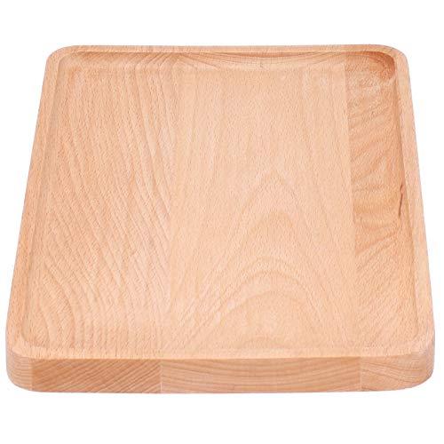 Bandeja de madera rectangular para servir, platos de madera para servir, no tóxicos, para muebles para el hogar,(30 * 20 * 2, blue)