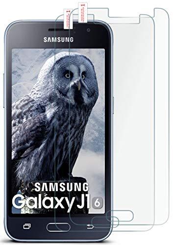 MoEx® Matte Panzerglasfolie aus 9H Echtglas passend für das Samsung Galaxy J1 (2016)   Kratzfest, Entspiegelnd + Reduziert Fingerabdrücke