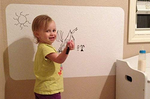 """Dry Erase Sticker Board - Premium 4 mil (22"""" x 36"""") Vinyl Heavy Duty White Board Wall Stickers - Peel and Stick Message Board Decal - Many Sizes to Choose from -Made in The USA!"""