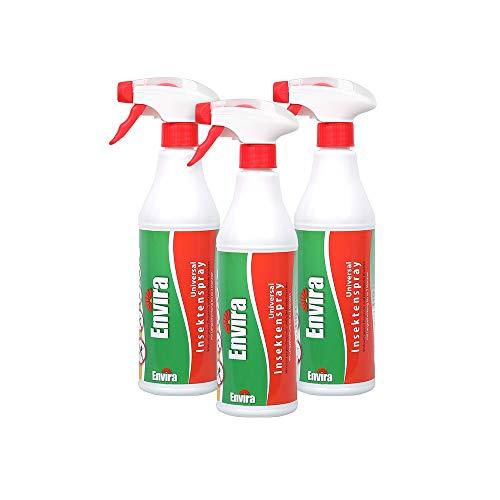Envira Universal Insektenschutz - Hochwirksames Insekten-Spray Mit Langzeitschutz - Auf Wasserbasis - 3x500ml