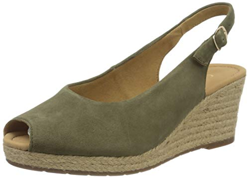 Gabor Shoes Damen Comfort Basic Pumps, Grün (Oliv (Jute) 34), 35.5 EU