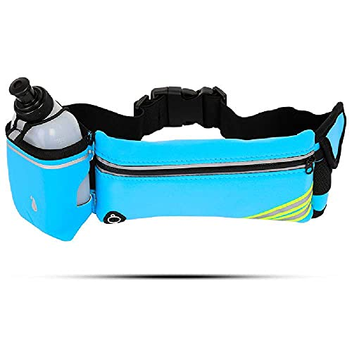 Bolsillos Para Botellas De Agua Bolsillos Para Teléfonos Móviles Correr Al Aire Libre Viajes Cinturones Deportivos Bolsillos Deportivos Multifuncionales Adecuado para 4-6 pulgadas /Azul (sin hervidor)