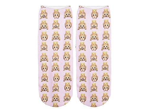 Unbekannt Socken bunt mit lustigen Motiven Print Socken Motivsocken Damen Herren ALSINO, Variante wählen:SO-L060 Emoticon Affen
