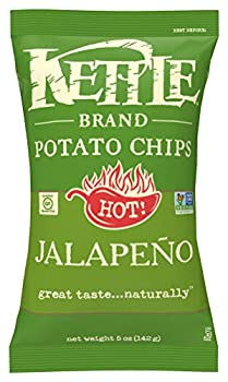 Kettle Brand Potato Chips Jalapeno 5 Ounce Bags  Pack of 15