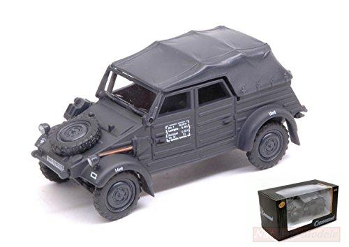 Cararama CA90740 VW KUBELWAGEN Type 82 Closed Dark Grey 1:43 MODELLINO Die CAST Compatible avec