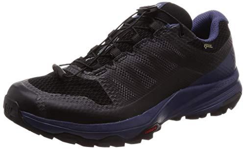 Salomon Damen XA DISCOVERY GTX W, Trailrunning-Schuhe, Wasserdicht, Schwarz (Black/Crown Blue/Ebony), Größe 42 2/3