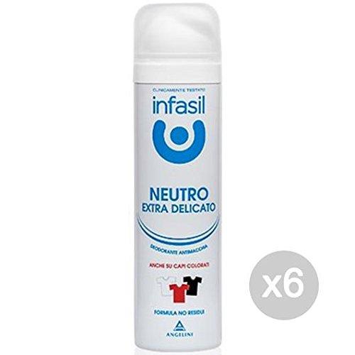 Juego de 6 ambientadores en espray ultrasuave neutro, 150 ml, cuidado e higiene del cuerpo