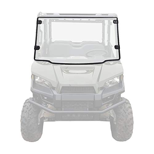 Clear Front Full Windshield Scratch Resistant 1/4 Inch PMMA Windscreen Replacement for Polaris Ranger Midsize 500 570 Crew EV ETX 2015-2020