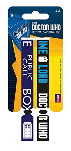 1art1 Doctor Who - Call Box, Lote De 2 10mm Wristbands Pulsera (10 x 2cm)