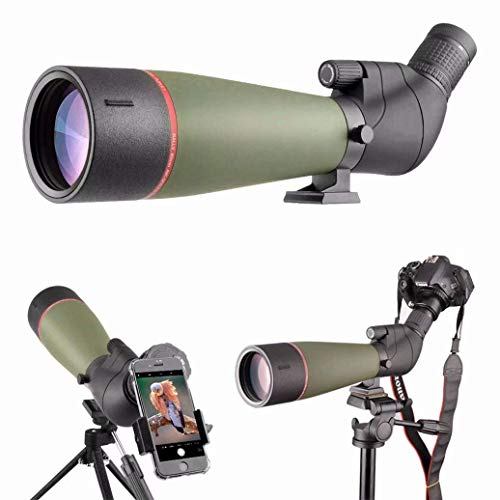 Best Buy! Doifck Monocular Telescope, 20-60x80 HD High Power Bak4 Prism Monocular Waterproof Portabl...