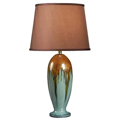 Kenroy Home 32366TEAL Tucson Table Lamp, 32  x 15  x 15