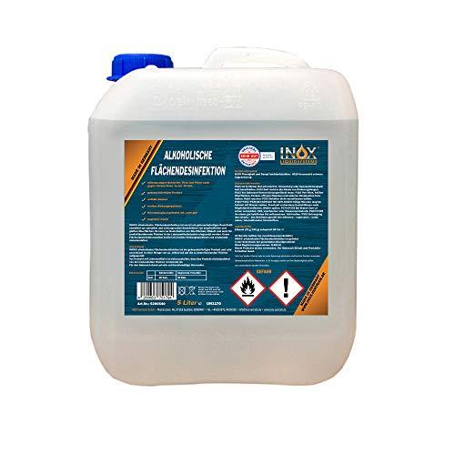 INOX® alkoholische Flächendesinfektion, 5L - Flächendesinfektionsmittel mit Alkohol, Desinfektionsmittel Oberflächen