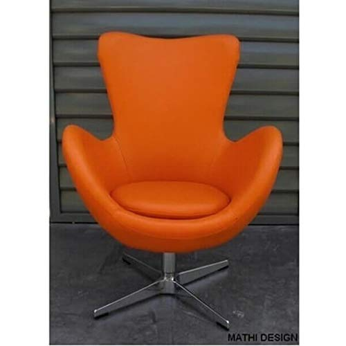 MATHI DESIGN Sessel Cocoon Kunstleder Farben orange