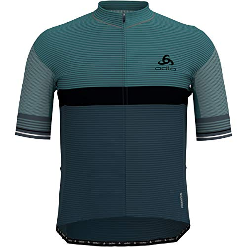 Odlo Zeroweight Herren T-Shirt mit Reißverschluss M Arctic/Dark Slate