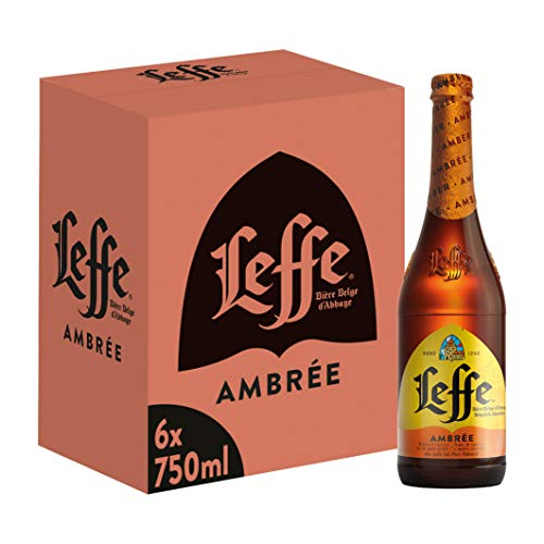 Leffe Ambree Birra, Bottiglia - Pacco da 6 x 750 ml