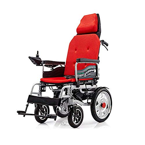FTFTO Home Accessories Elderly Disabled Foldable Electric Power Wheelchair with Reclinable Backrest for The Elderly and Disabled