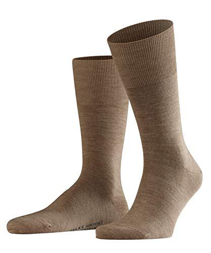 FALKE Herren Socken Airport, mit Merinowolle und Baumwolle, Business Socken zum Anzug, Braun, 39-40, 1er Pack