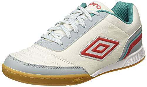 Umbro Futsal Street V Bota IC, Zapatillas Hombre, Multicolor (White/Grey/Red/Blue), 44.5 EU